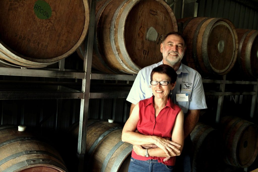 Winemakers Terry and Mary HILL OF PROMISE