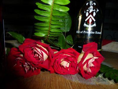 Roses, top of barrel, 3 RH