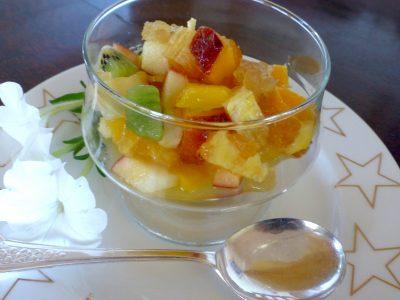 Fruit salad w ginger -3
